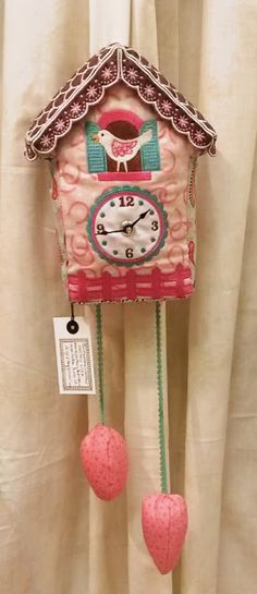 Fabric Cuckoo clock with embroidery designs using the Janome MC15000 sewing/embroidery machine. Rodeo Rider fabrics by Samantha Walker for Riley Blake Designs. Check out all the new fabric lines for Riley Blake on their Designer Blog Tour. Spring Quilt Market 2015