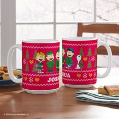 """""""Christmas time is here."""" 🎵 Enjoy your morning coffee or evening hot chocolate with the PEANUTS® gang! Peanuts Christmas, Christmas Time Is Here, Personalized Christmas Gifts, Peanuts Gang, Holiday Wishes, Christmas Decorations, Holiday Decor, Holiday Fashion, Hot Chocolate"""