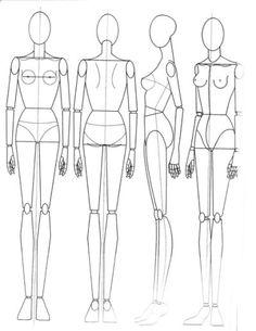 Fashion Figure Drawing Models