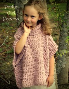This lovely poncho is easy to work and perfect for all ages - toddler to adult. Design features a pretty textured fabric, knit-look ribbed edges and cowl neck. Crochet Toddler, Crochet For Kids, Love Crochet, Crochet Snowflake Pattern, Crochet Poncho Patterns, Sewing Kids Clothes, Crochet Clothes, Crochet Hook Sizes, Crochet Yarn