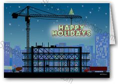 Christmas Construction Crane