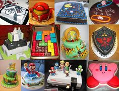 Various video game cakes :)