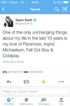 Taylor's tweet....  Omg I just realized Ingrid is the artist I loved for so long but never knew who she was OMG swiftie moment