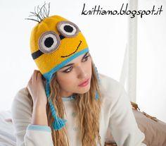 Schema cappello minion all'uncinetto Minion hat - despicable me