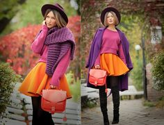 Autumn colors outfit with Opening Ceremony bag on GalantGirl.com