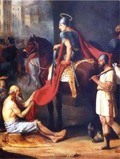 San Martin de Loba nacio en Sabaria, Panonia; actual Szombathely, Hungría, en el año 316.