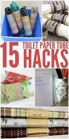 15 Amazingly Clever Toilet Paper Tube Hacks                                                                                                                                                     More