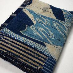 From Kimono Boy - Boro Patchwork Indigo Cotton Futon Cover. Wonderful variety of textiles including tsutsugaki, stripe and kasuri patches. Excellent example of Japanese Folk Textile Boro Art. Age Late to Early Japanese Textiles, Japanese Fabric, Japanese Patchwork, Boro Stitching, Mood Indigo, Indigo Colour, Futon Covers, Sashiko Embroidery, Textile Art