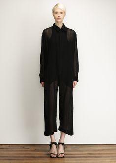 Yohji Yamamoto Black Zip Overalls