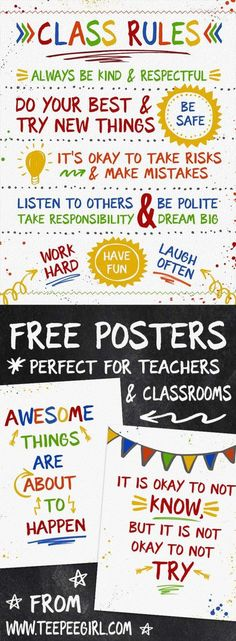 Free Classroom Posters These free posters are perfect for classrooms, as teacher appreciation gifts, Classroom Environment, Classroom Setup, Future Classroom, Classroom Organization, Classroom Management, Rules For Classroom, Highschool Classroom Rules, Book Corner Classroom, Apple Classroom