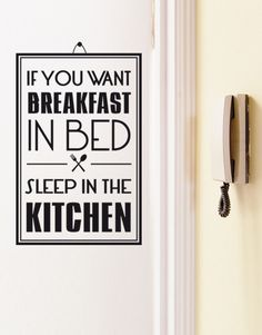 If you want breakfast wall stickers