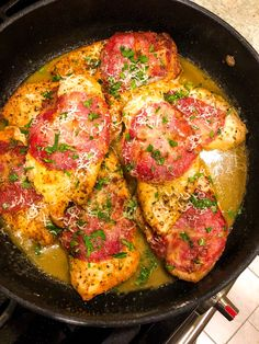 An easy yet impressive entrée, Chicken with Capicola in White Wine & Butter Sauce is perfect for either a weeknight dinner or weekend dinner party. #chicken #chickenbreastbonelessrecipes #chickeninwhitewine #dinnerideas Chicken White Wine Sauce, White Wine Butter Sauce, Party Chicken, Best Comfort Food, Other Recipes, Entrees, Healthy Recipes, Healthy Food, Chicken Recipes