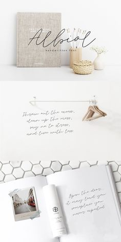 Create your own design by choosing this wonderful handwritten font. Albiol has an effortless yet refined quality, making it an excellent fit for projects of all Handwritten Script Font, Sans Serif Fonts, Typography Fonts, Font Logo, Gift Voucher Design, Minimal Font, Special Letters, Hand Drawn Fonts, Signature Fonts
