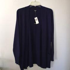 NWT Premise Studio Cardigan Navy blue cardigan from premise studio! Super soft material. Size small! Premise Studio Sweaters Cardigans