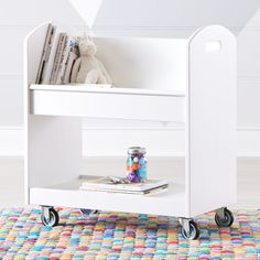 White Local Branch Library Cart at Crate and Barrel Canada. Discover unique furniture and decor from across the globe to create a look you love. Crate Storage, Kids Storage, Toy Storage, Kid Book Storage, Small Storage, Furniture Layout, Custom Furniture, Kids Furniture, Luxury Furniture