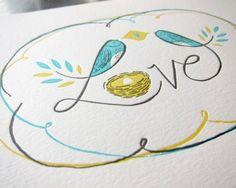 love birds print at art school girl