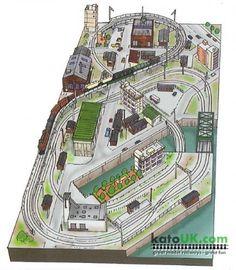 Kato Unitrack Factory District Track Plan