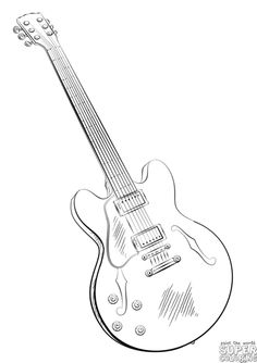 How to draw an electric guitar | Step by step Drawing tutorials