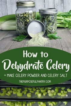 Don't waste another rib of celery . learn how to dehydrate it and extend your pantry's versatility with dehydrated celery and celery powders. It's so easy! Dehydrated Vegetables, Dehydrated Food, Homemade Spices, Homemade Seasonings, Best Nutrition Food, Nutrition Guide, Nutrition Plans, Healthy Food, Canning Food Preservation