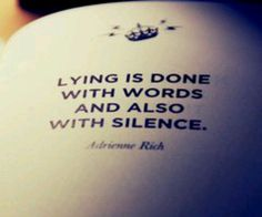 Quotes About Lies Of Omission