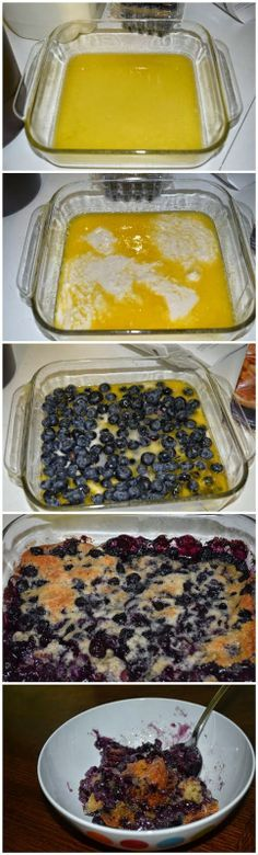 Easy Bisquick Blueberry Cobbler Easy dessert for Father's Day