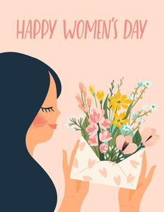 Women's Day 8 March, 8th Of March, Happy Woman Day, Happy Women, Baby Animal Drawings, Cartoon Drawings, Women's Day Cards, Sketch Note, Ideas For Instagram Photos