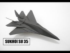 Origami Airplane Jet How To Make a Paper Airplane - Easy Paper Plane Origami Jet Fighter Is Cool - Sukhoi How To Make Paper Airplane - Easy Paper Plane. Origami Ball, Origami Paper Plane, Origami Airplane, Diy Origami, Useful Origami, Paper Crafts Origami, Origami Design, Best Origami, Sukhoi Su 35