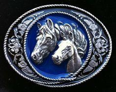 Western Cowboy n Cowgirl Rodeo Horse Rider Belt Buckle