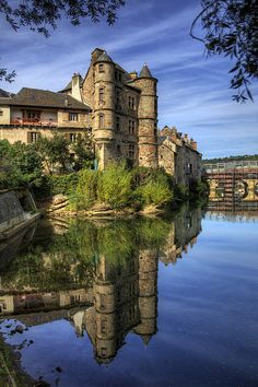 Reflections, Old palace, Espalion, Aveyron, France
