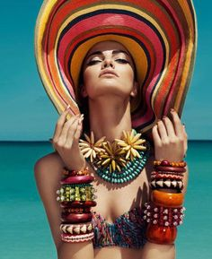 Accessories for a beach style holiday... .more is better!