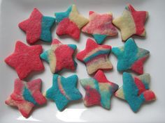 Impress everyone with these fun, festive cookies this 4th of July! #vegan #pumpkinspastry