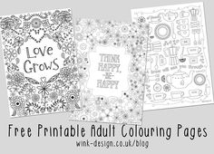 Free printable adult coloring pages 3 gorgeous designs with inspirational quotes - sooooo relaxing and happy!