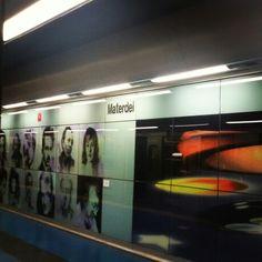 Stazione metropolitana di Materdei Napoli.