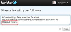 Make Sure Your Social Sharing Buttons Point to Your Twitter Account