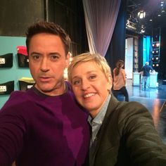 Robert Downey Jr with Ellen