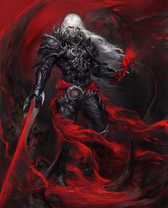 This guy is either a dark elf or a vampire. But the artwork is great!