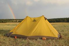 My tent and a rainbow