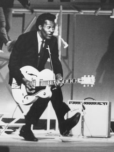 Chuck Berry- groundbreaking rock n roll, hugely entertaining, and he could chicken walk while playing guitar
