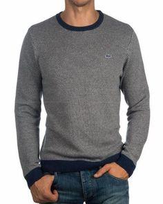 1d3344462 Jersey Lacoste Cuello Redondo - Argent #MensFashionEdgy Jersey Lacoste,  Lacoste Men, Best Mens