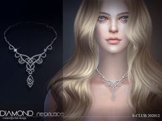 S-Club ts4 LL Necklace 202012 Sims 4 Body Mods, Sims Mods, Sims 4 Mods Clothes, Sims 4 Clothing, Maxis, Wedding Earrings, Wedding Jewelry, Sims 4 Piercings, Sims Stories