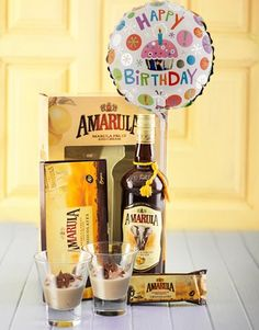 Buy Amarula and Tot Glass Hamper with Balloon Online - NetGifts Same Day Delivery Service, Balloons Online, Birthday Gifts, Happy Birthday, Alcohol Gifts, Hampers, Glass, Stuff To Buy, Gift Ideas