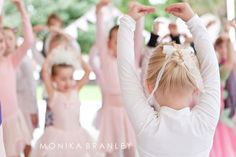 Our beautiful ballerina, Sierra, leading her birthday party guests in a dance.  It just makes me smile every time I look at these pictures. @Stephanie Vercoe