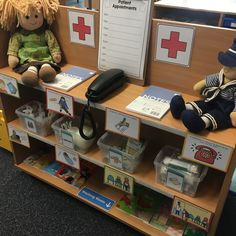Doctors surgery - funnybones Year 1 Classroom, Early Years Classroom, Reading Den, Creative Area, Block Play, Funny Bones, Writing Table, Waiting Rooms, Eyfs