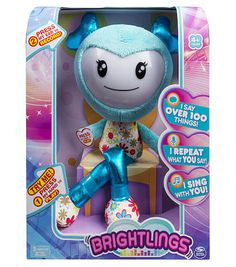 Brightlings 15 inch Interactive Singing and Talking Plush Figure- Teal