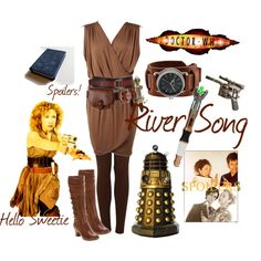 River Song haven't watch dr who yet but I'm digging this style!