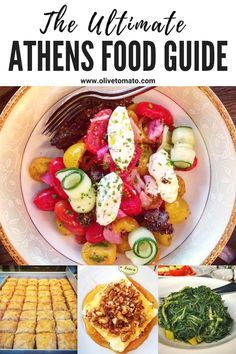 The Ultimate Athens Food Guide! Planning a trip to Greece? Then you need this insider's guide for the best food in Athens. Greece #travel #traveltips #greece #greekfood #europe #vacation