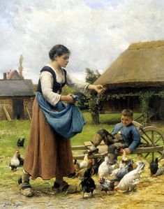 In The Farmyard by Julien Dupre