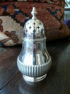 Sugar Caster - Antique Silver Caster - Silver Sugar Shaker  - Hat Pin Holder - Muffineer