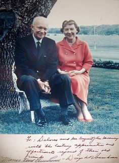 President Dwight Eisenhower and Mamie Signed Photo