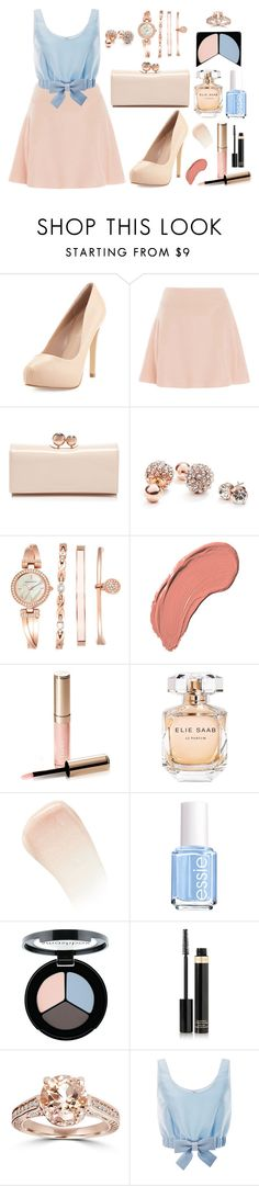 """#1442"" by beautyqueen3000 ❤ liked on Polyvore featuring Charles by Charles David, Jonathan Simkhai, Ted Baker, GUESS, Anne Klein, NYX, By Terry, Elie Saab, Essie and Smashbox"